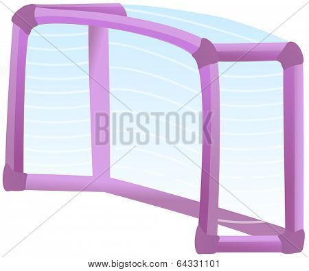 Vector illustration of a goalpost