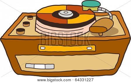 Vector illustration of turntable