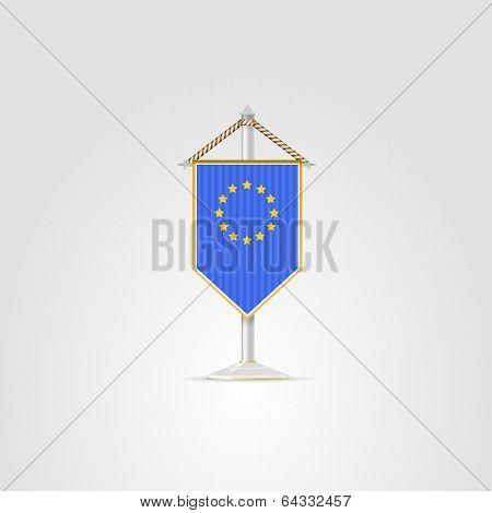 Illustration of national symbols of European countries. The European Union.