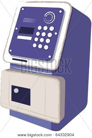 Vector illustration of a Telephone or ATM (Automatic Teller Machine)
