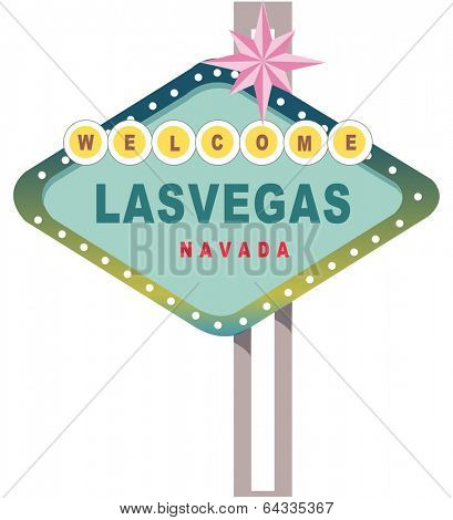 Vector illustration of Las Vegas sign