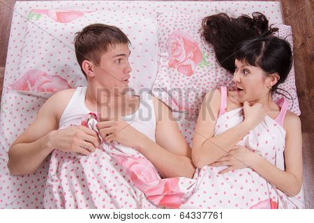 Unfamiliar Man And Woman Wake Up In Bed