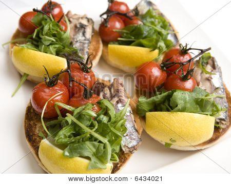 Cherry Tomatoes & Pilchard Muffins