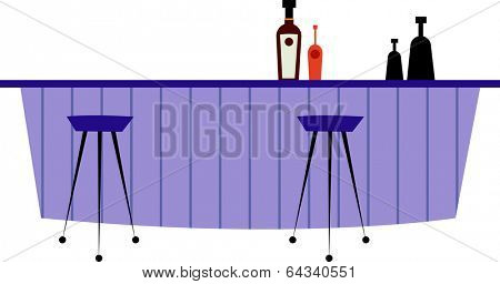 Vector illustration of  a bar
