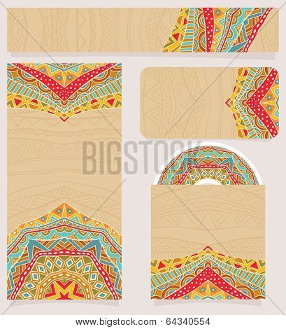 Branding Design With Bright Ethnic Pattern
