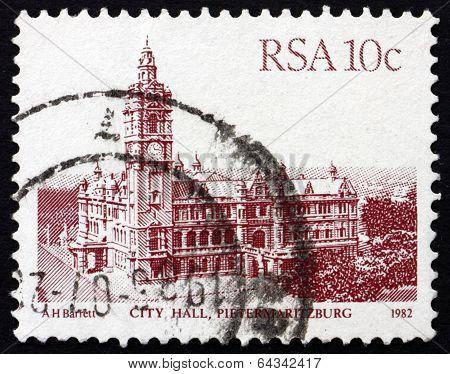 Postage Stamp South Africa 1983 City Hall, Pietermaritzburg