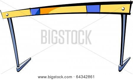 Vector illustration of a hurdle