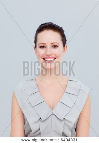 Portrait Of A Smiling Beautiful Businesswoman
