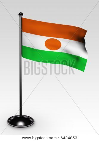 Small Niger Flag Clipping Path