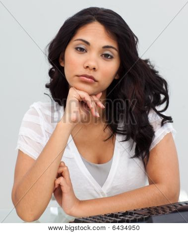 Young Businesswoman Getting Tired