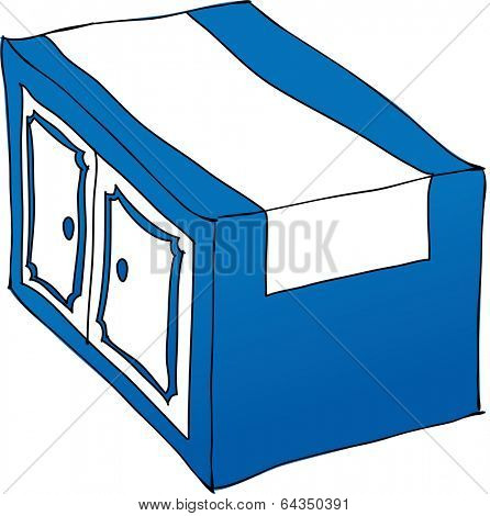 Vector illustration of a drawer