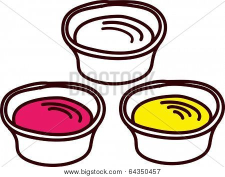 Vector illustration of pudding