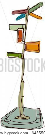 Vector illustration of a guidepost