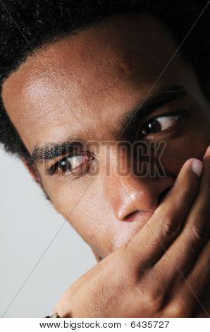 Pensive African Man