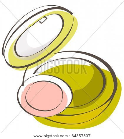 Vector illustration of a compact powder