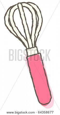 Vector illustration of balloon whisk