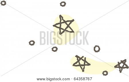Vector illustration of night sky with milky way