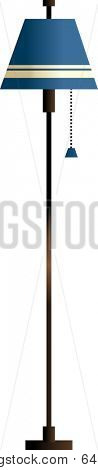 Vector illustration of floor lamp.