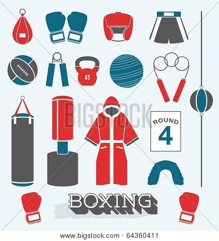 Vector Set: Boxing Objects and Icons
