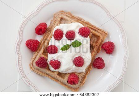 Raspberry Waffles