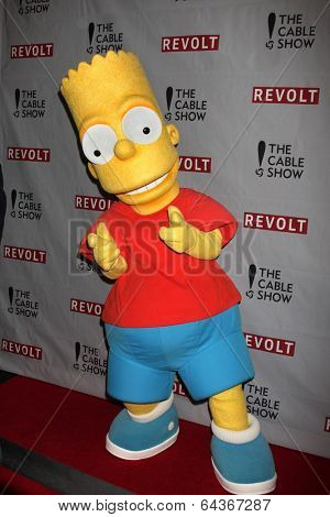 LOS ANGELES - APR 30:  Bart Simpson at the NCTA's Chairman's Gala Celebration of Cable with REVOLT at The Belasco Theater on April 30, 2014 in Los Angeles, CA