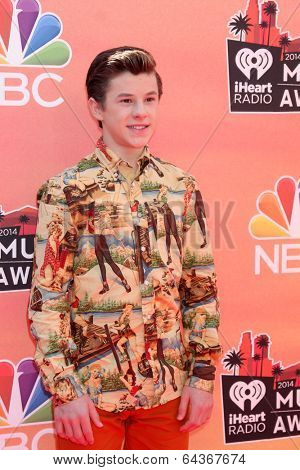 LOS ANGELES - MAY 1:  Nolan Gould at the 1st iHeartRadio Music Awards at Shrine Auditorium on May 1, 2014 in Los Angeles, CA
