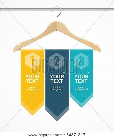 Coat hanger wood like text headers.