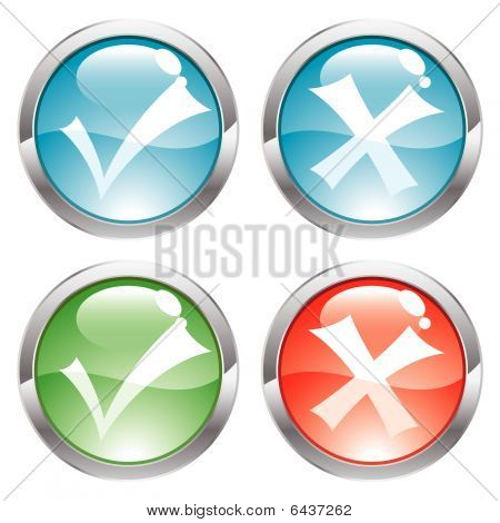 Gloss Buttons with ticks