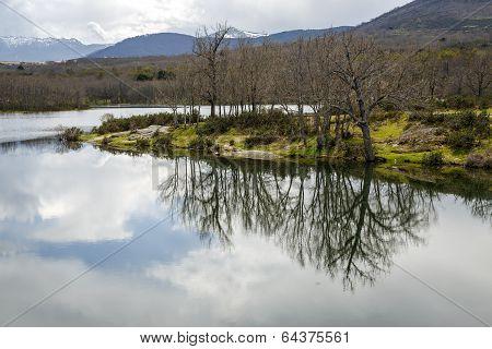 Ponton Reservoir The River Eresma In Segovia
