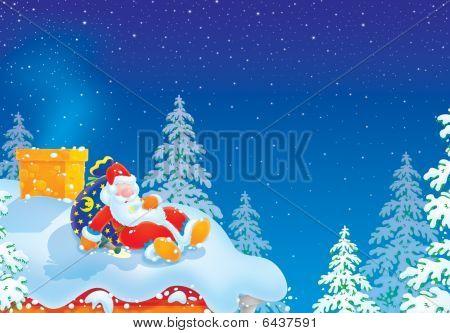 Papai Noel é ligeiramente bêbado