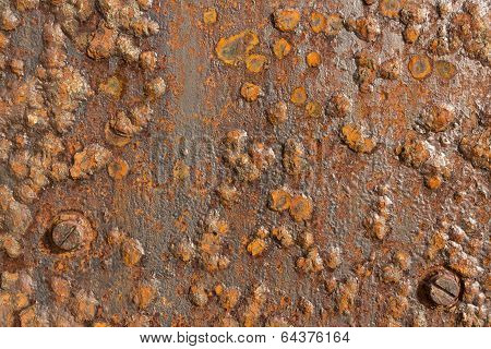 Rusted Iron Metal Surface. Texture, use as Background