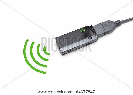 Usb Wireless Adapter On White Background