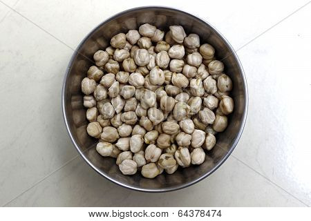 closeup of dried chickpea also called as legume or bengal gram