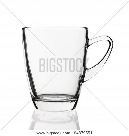 Empty Glass Cup Isolated On White Background