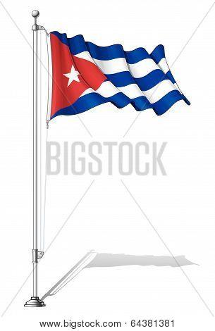 Flag Pole Cuba.