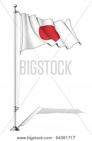 Flag Pole Japan