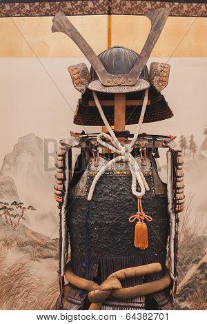 Samurai Traditional Armor At Orient Festival In Milan, Italy