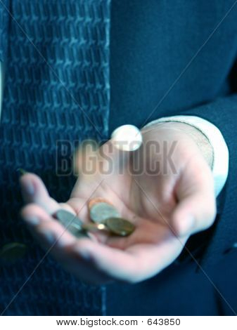Coins And Hands