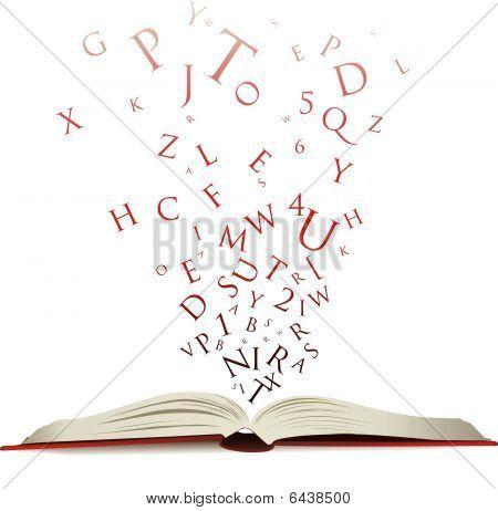 Letras de libro abierto