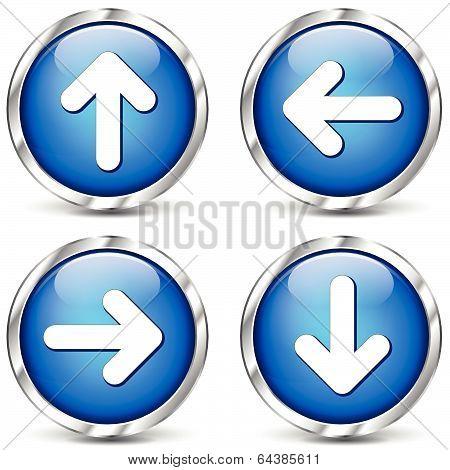 Vector Blue Arrows Icons