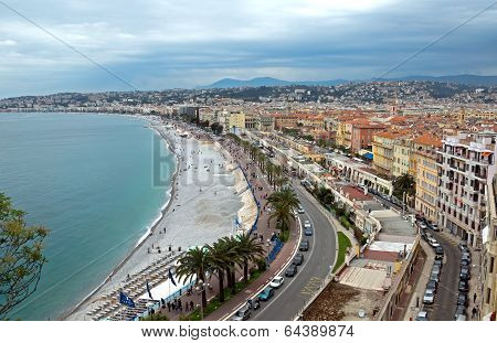 Nice - Promenade Des Anglais From Above