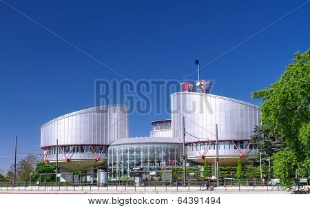 STRASBOURG, FRANCE - APRIL 16: Building of the European Court of Human Rights, which is international court established by the European Convention on Human Rights, APRIL 16, 2014 in Strasbourg,