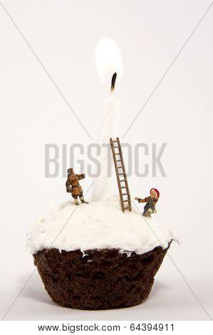 Firemen on Cupcake
