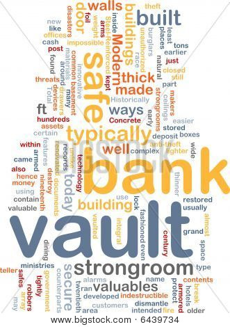 Bank Vault Word Cloud