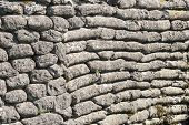 stock photo of sandbag  - Background of sandbags in trench of death - JPG