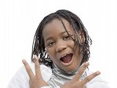 image of ten years old  - Young Afro beauty - JPG