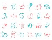 stock photo of baby doll  - infant Icon set - JPG