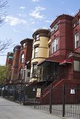 stock photo of brownstone  - New York City brownstones in Bedford - JPG
