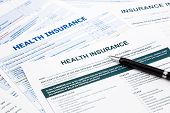 pic of reimbursement  - health insurance form paperwork and questionnaire for insurance concepts - JPG