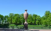 pic of porphyry  - The porphyry vase in Summer Gardens in St - JPG